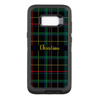 Trendy Multicolored Plaid Monogram OtterBox Defender Samsung Galaxy S8+ Case