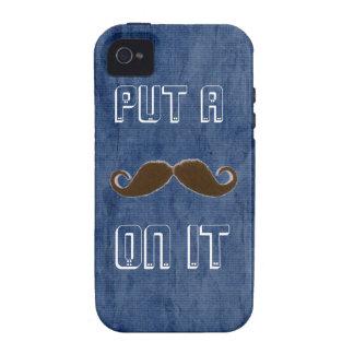 Trendy mustache vibe iPhone 4 cases