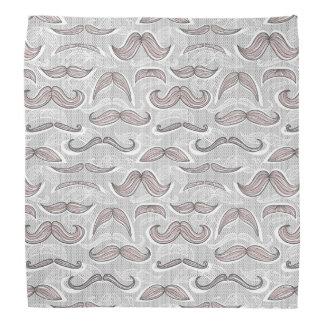 Trendy Mustache Pattern Bandana