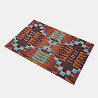 Trendy Native American Indian Tribal Pattern Doormat