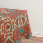 Trendy Native American Indian Tribe Mosaic Pattern Tablecloth