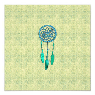 Trendy Native American Wolf Dreamcatcher Photo Art