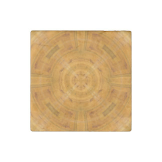 Trendy Orange Circle Pattern Stone Magnet