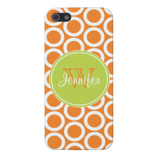 Trendy Orange & Lime Green Pattern, iPhone 5 Case For iPhone 5/5S