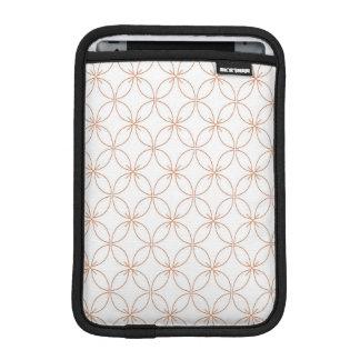 Trendy orange quatrefoil pattern sleeve for iPad mini