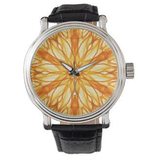 Trendy Orange, Yellow Fractal Watches