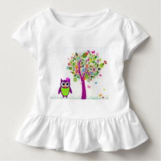 Trendy Owl Toddler T-Shirt