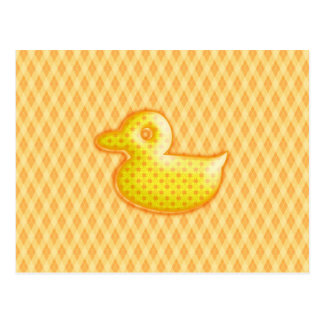 Trendy Patterned Rubber Ducky Post Card