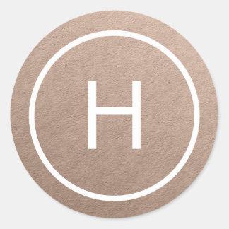 Trendy Peace Round Monogram Stickers