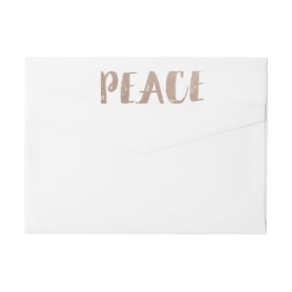 Trendy Peace Wraparound Holiday Labels