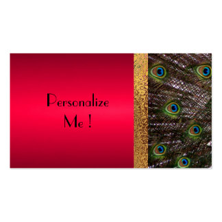 Trendy Peacock Elegant Modern  / House-of-Grosch Pack Of Standard Business Cards