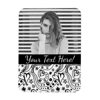 Trendy Personalized Hearts and Love Doodle Pattern Magnet