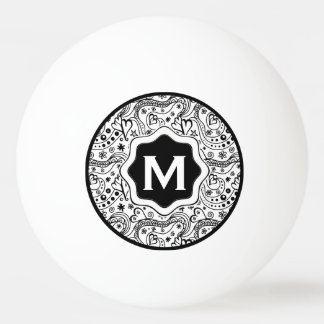Trendy Personalized Hearts and Love Doodle Pattern Ping Pong Ball