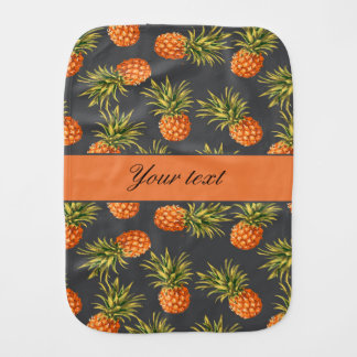 Trendy Personalized Pineapple Burp Cloth