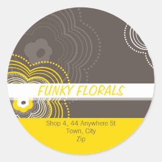 TRENDY PERSONALIZED STICKER :: funky flower 7