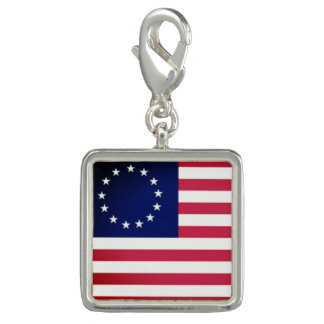 Trendy Photo Charm Bracelet Betsy Ross Flag