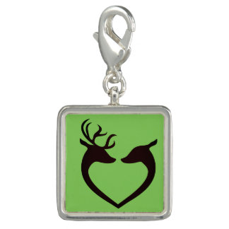 Trendy Photo Charm Bracelet Deer Heart