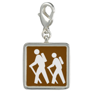 Trendy Photo Charm Bracelet Hiker Hiking