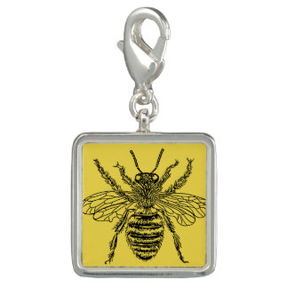 Trendy Photo Charm Bracelet Honey Bee