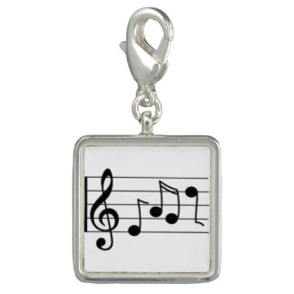 Trendy Photo Charm Bracelet Music Notes