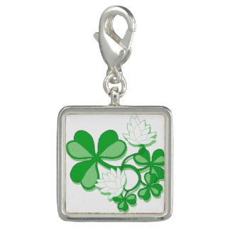 Trendy Photo Charm Bracelet Shamrock Irish