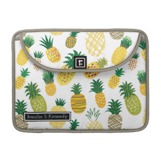 Trendy Pineapple Pattern | Add Your Name Sleeves For MacBook Pro