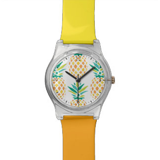 Trendy Pineapples Pattern Watch