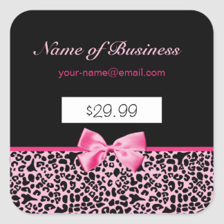 Trendy Pink And Black Leopard Hot Pink Price Tags