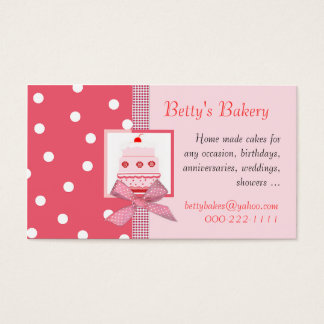 Trendy Pink and Salmon Business Card