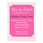 Trendy Pink Baby Shower Invitations