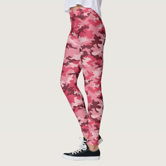 Trendy Pink Camo Leggings