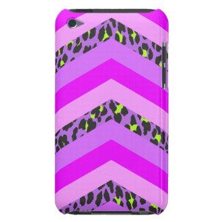 Trendy Pink Cheetah Chevron Animal Pattern Print Case-Mate iPod Touch Case