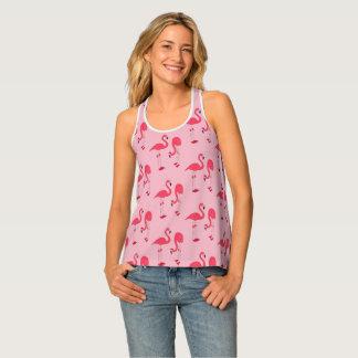 Trendy Pink Flamingo Pattern Singlet