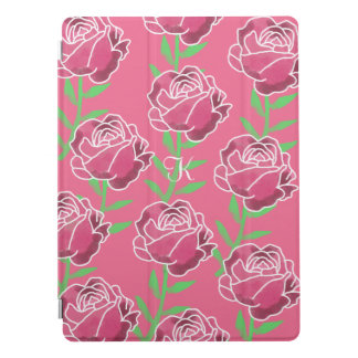 Trendy pink Floral Apple iPad Pro Cover - 9.7""
