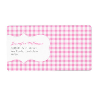 Trendy Pink Gingham