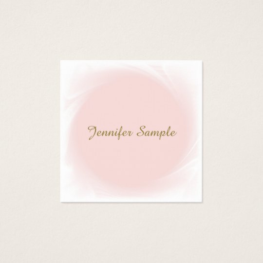 Trendy Pink Manager Director Calligraphic Luxury Square Business Card
