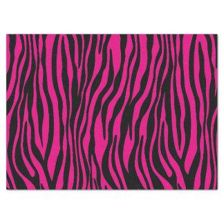 Trendy Pink Zebra Print Pattern Tissue Paper