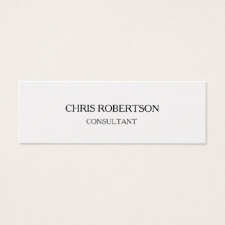 Trendy Plain Attractive Special Modern Mini Business Card