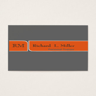 Trendy Plain Modern Broken-Band Minimalist Business Card