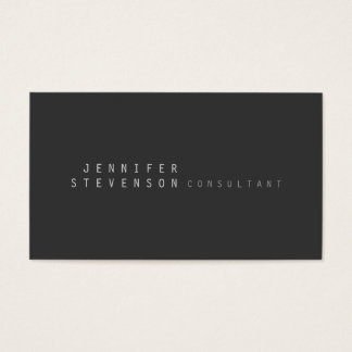 Trendy Plain Stylish Gray Clean Business Card