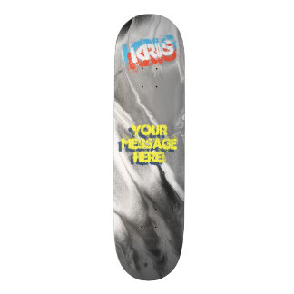 Trendy Poured Paint Black and White Skateboard