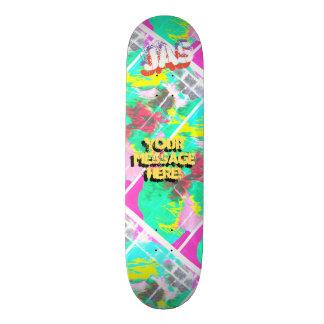 Trendy Poured Paint Magenta Pink Orange 21.6 Cm Skateboard Deck