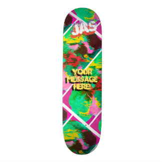 Trendy Poured Paint Magenta Pink Orange Skateboards