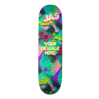 Trendy Poured Paint Purple Pink Turquoise Skate Boards