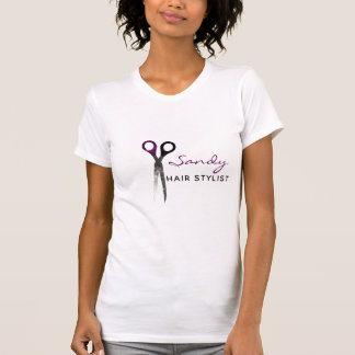 Trendy purple and black scissors T-Shirt