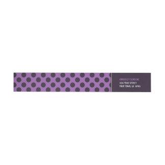 Trendy Purple and Pink Polka Dot Wraparound Return Address Label