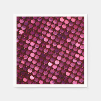 Trendy Purple Bling Disposable Napkins