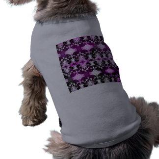 Trendy Purple Graphic Skull Dog T-shirt