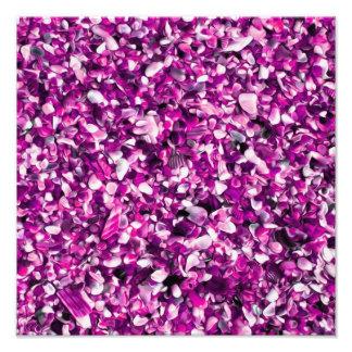 Trendy Purple Painted Pebble Beach Photo Art