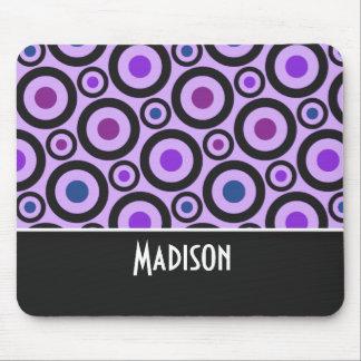 Trendy Purple Polka Dot Mouse Pad